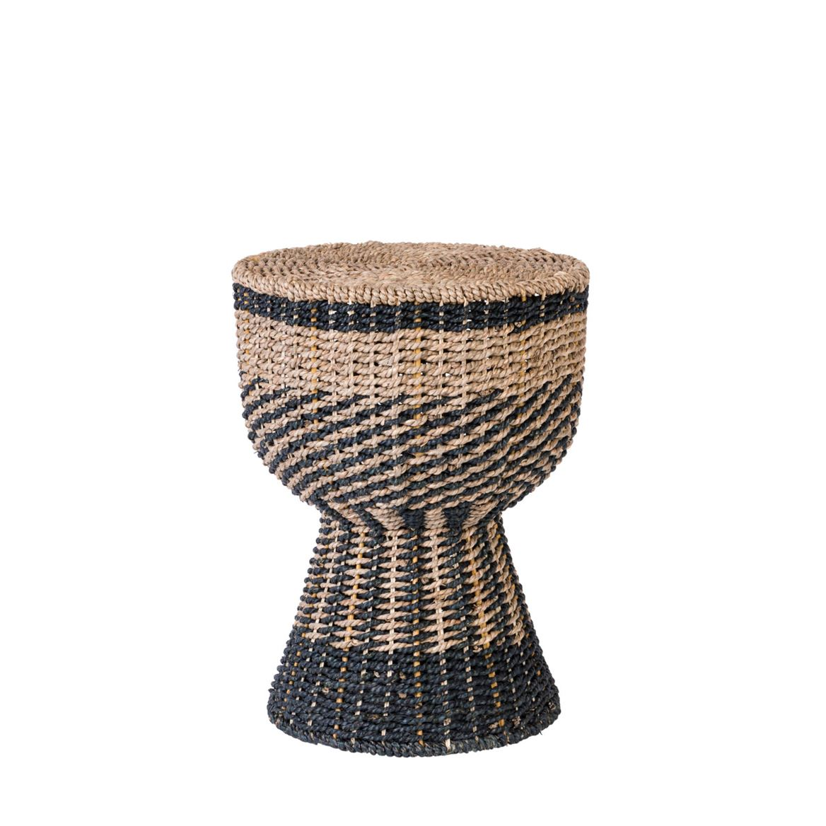 DJEMBE Puf negro, natural A 47 cm; Ø 36 cm_djembe-puf-negro,-natural-a-47-cm;-ø-36-cm