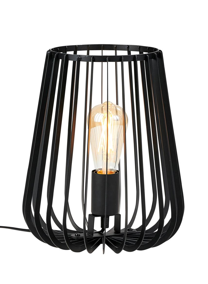 ORION Lampe de table noir H 30 cm; Ø 25 cm_orion-lampe-de-table-noir-h-30-cm;-ø-25-cm