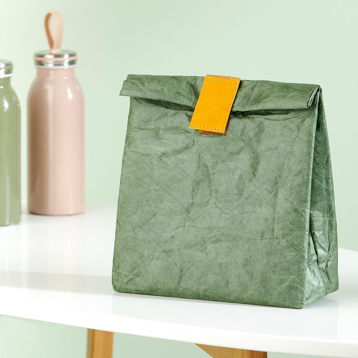 WE CARE Sac à lunch vert H 29 x Larg. 20 x P 10 cm_we-care-sac-à-lunch-vert-h-29-x-larg--20-x-p-10-cm