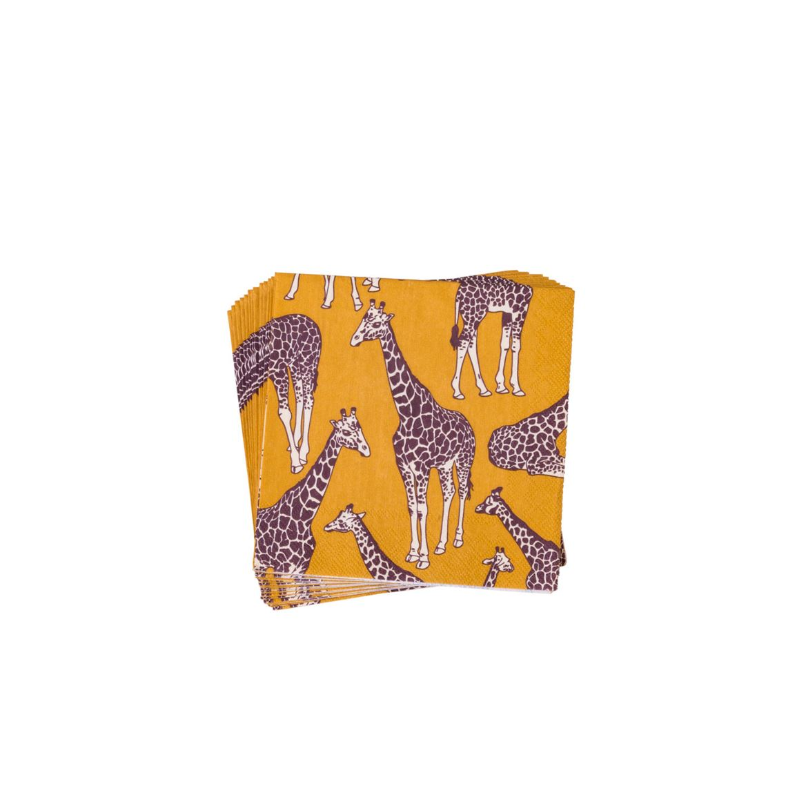 SAFARI GIRAFFE  Set van 20 servetten multicolor B 25 x L 25 cm_safari-giraffe--set-van-20-servetten-multicolor-b-25-x-l-25-cm