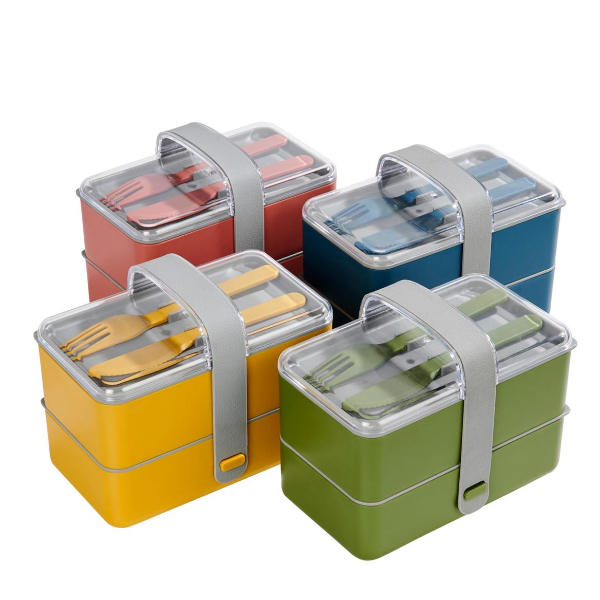 LUNCHTIME Lancheira com talheres 3 cores amarelo, verde, azul H 13.5 x W 17 x D 10 cm_lunchtime-lancheira-com-talheres-3-cores-amarelo,-verde,-azul-h-13-5-x-w-17-x-d-10-cm
