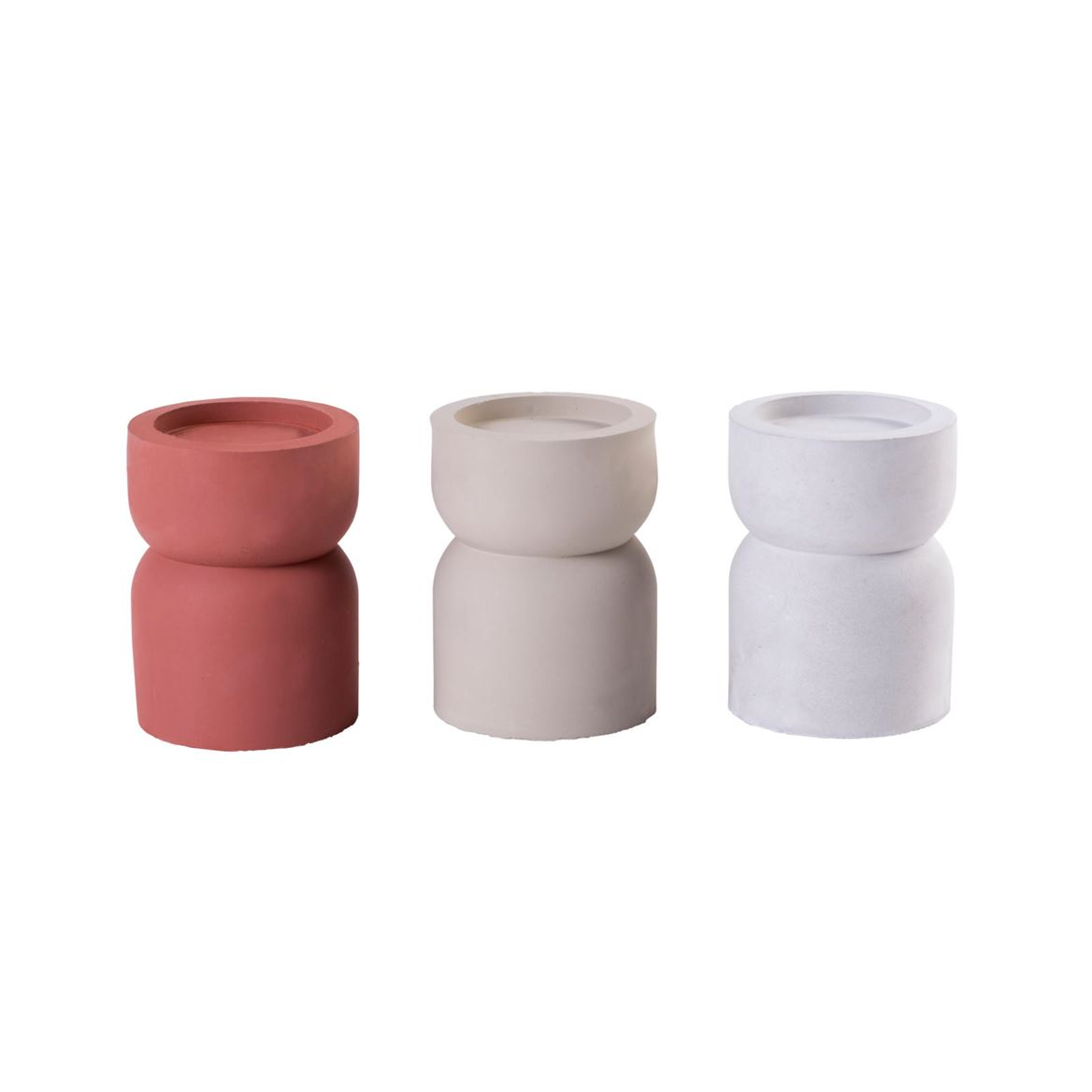 CEMENT Porte-bougie 3 couleurs gris, orange, beige H 12,5 cm; Ø 9,5 cm_cement-porte-bougie-3-couleurs-gris,-orange,-beige-h-12,5-cm;-ø-9,5-cm