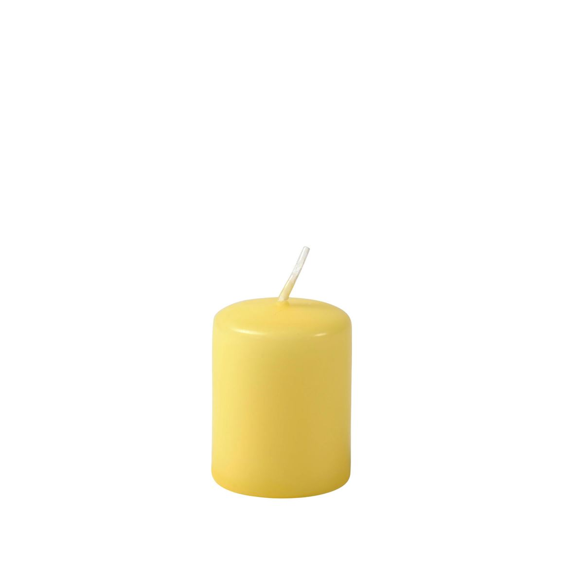 CILINDRO Bougie cylindre jaune clair H 5 cm; Ø 4 cm_cilindro-bougie-cylindre-jaune-clair-h-5-cm;-ø-4-cm