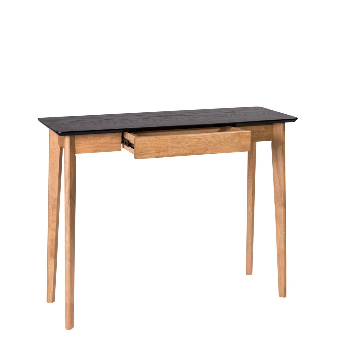 HERNING Table murale noir, naturel H 85 x Larg. 40 x Long. 110 cm_herning-table-murale-noir,-naturel-h-85-x-larg--40-x-long--110-cm