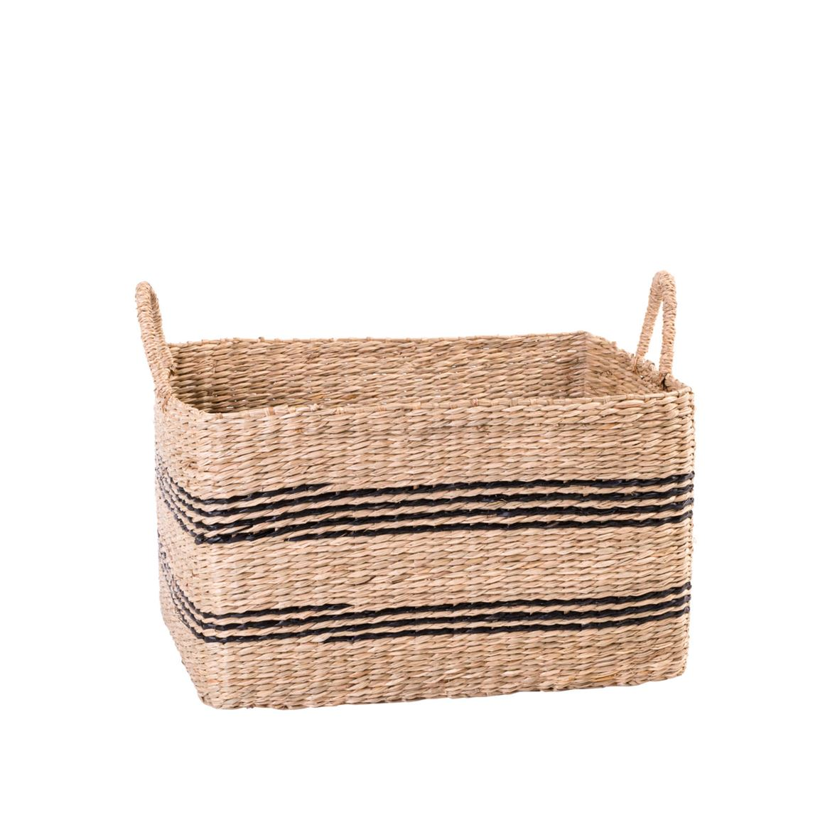 BILLY RAY Cesto nero, naturale H 30 x W 40 x D 36 cm_billy-ray-cesto-nero,-naturale-h-30-x-w-40-x-d-36-cm