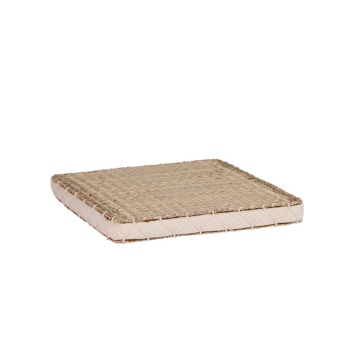 SEAGRASS Coussin matelas blanc H 4 x Larg. 40 x Long. 40 cm_seagrass-coussin-matelas-blanc-h-4-x-larg--40-x-long--40-cm