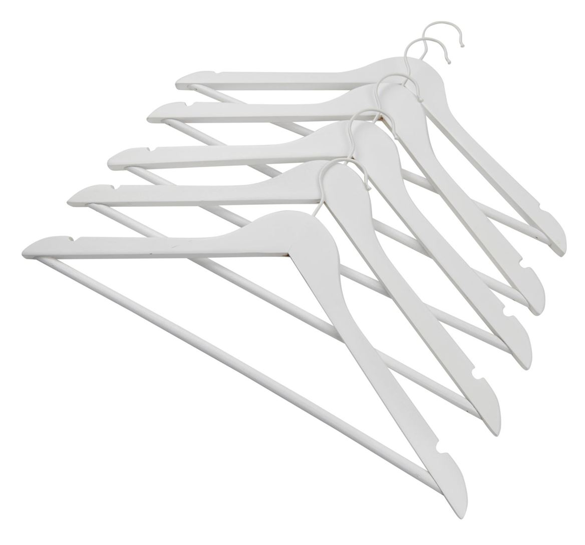 NEW WOOD Kleerhangers set van 5 wit H 23 x B 44,5 x D 1,2 cm_new-wood-kleerhangers-set-van-5-wit-h-23-x-b-44,5-x-d-1,2-cm