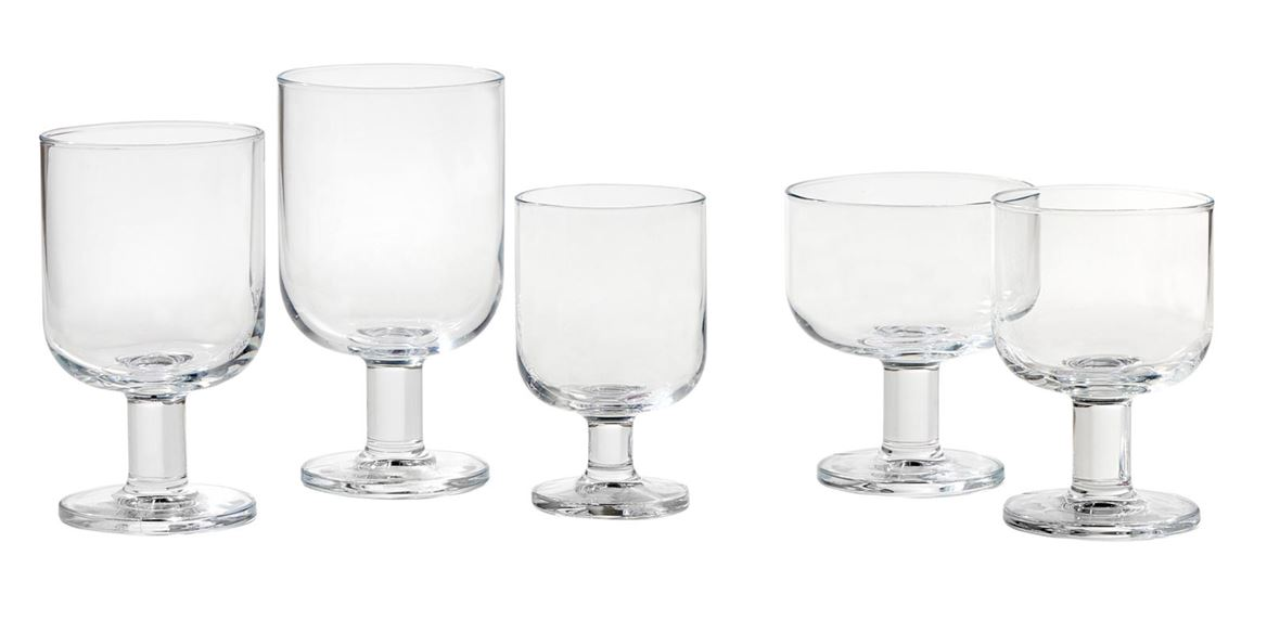 HOSTERIA Verres set de 6 transparent H 14 cm; Ø 7,7 cm_hosteria-verres-set-de-6-transparent-h-14-cm;-ø-7,7-cm