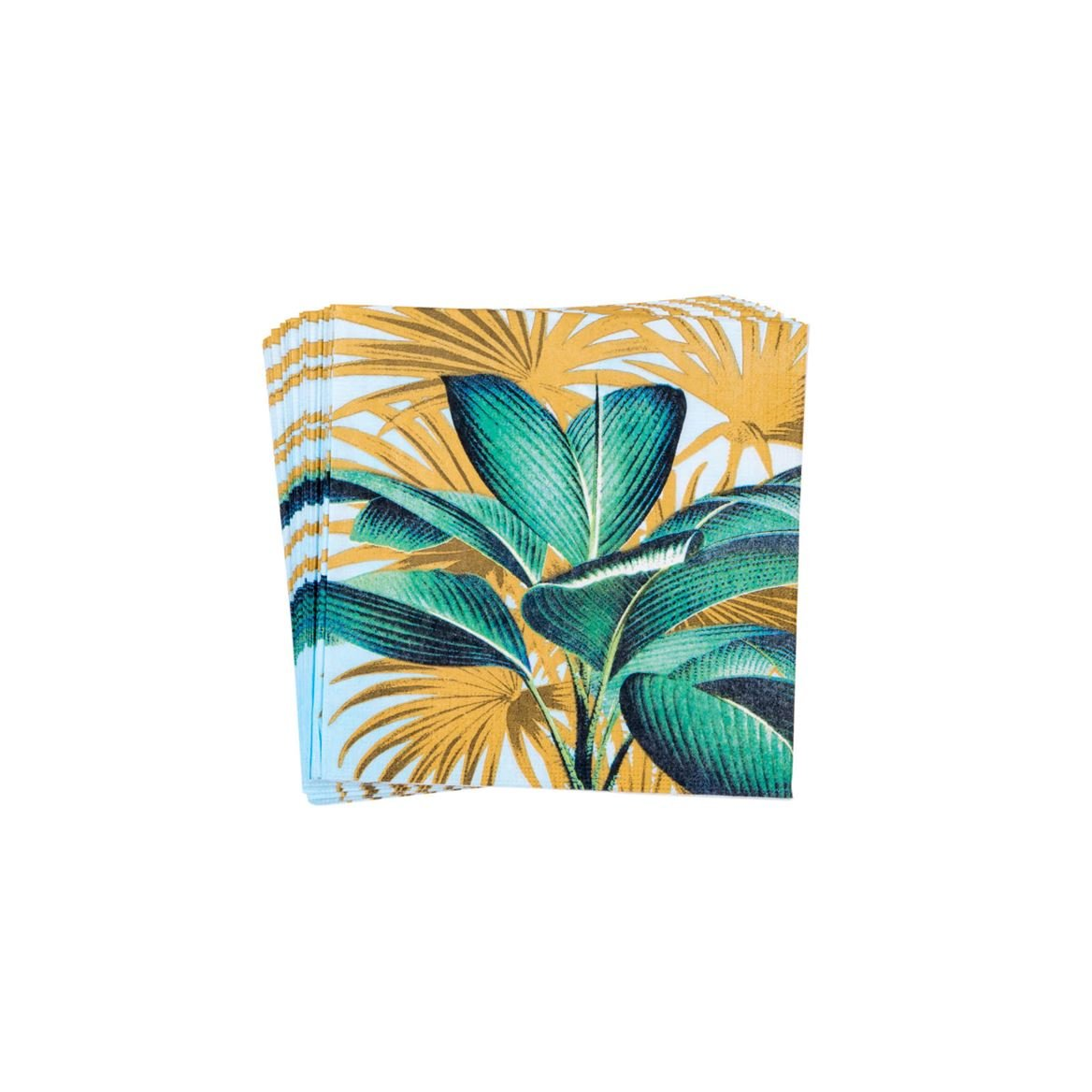 TROPICAL LEAVES Set de 20 serviettes vert Larg. 33 x Long. 33 cm_tropical-leaves-set-de-20-serviettes-vert-larg--33-x-long--33-cm