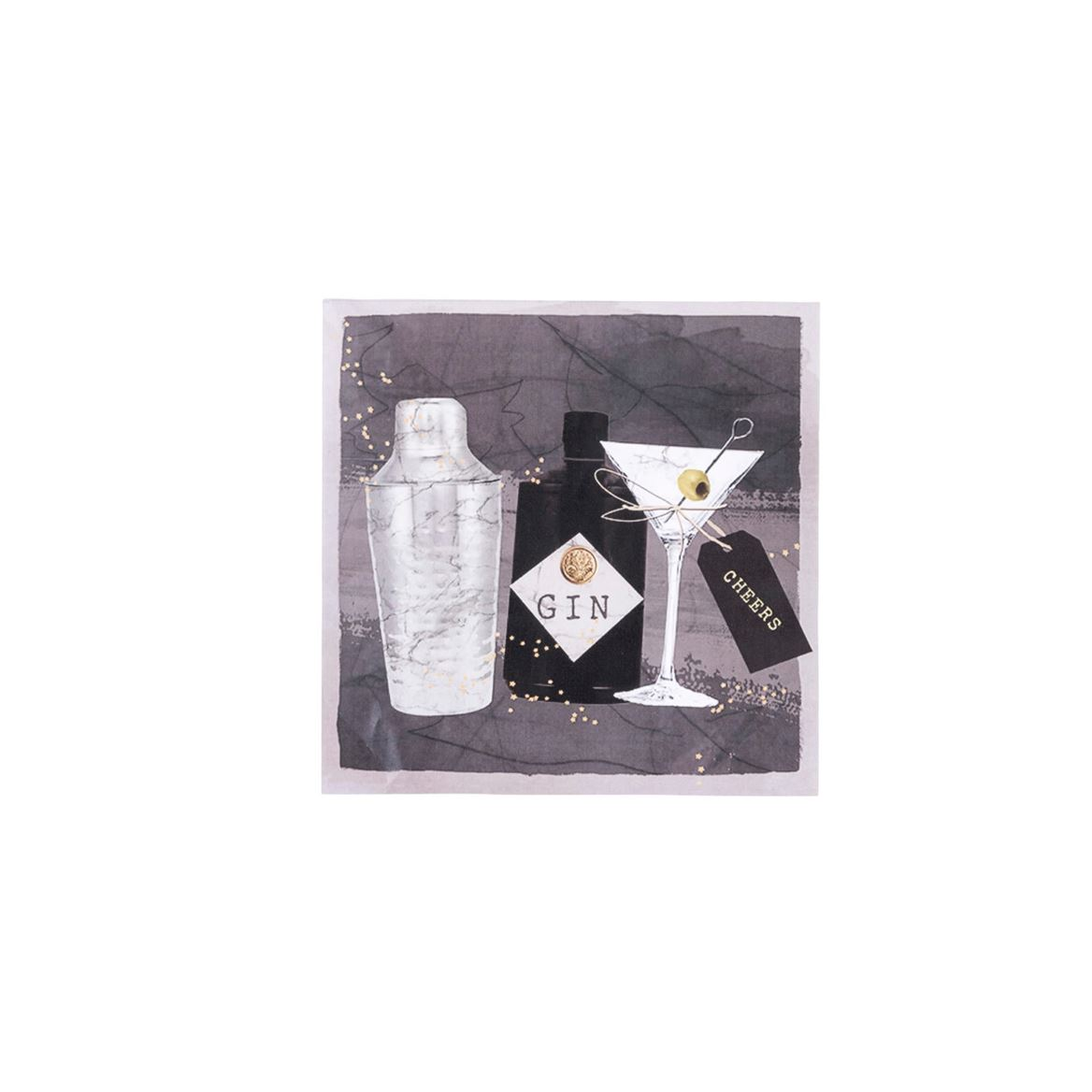 GIN&MARTINI Set de 20 serviettes noir Larg. 33 x Long. 33 cm_ginmartini-set-de-20-serviettes-noir-larg--33-x-long--33-cm