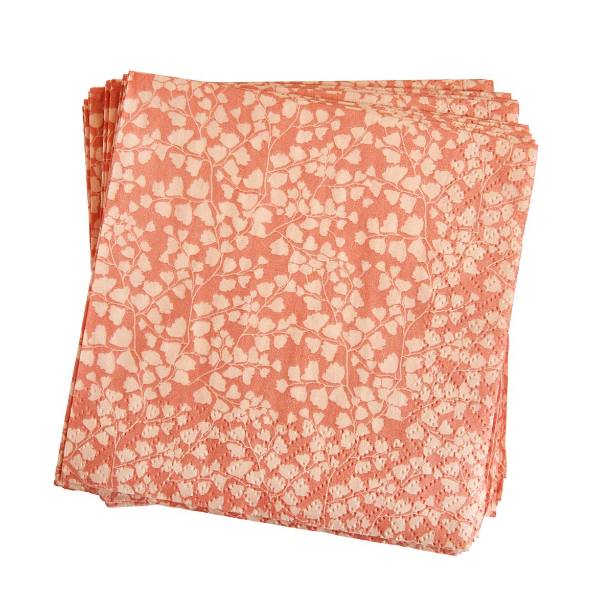 AURELIE  Set de 20 serviettes rose Larg. 25 x Long. 25 cm_aurelie--set-de-20-serviettes-rose-larg--25-x-long--25-cm
