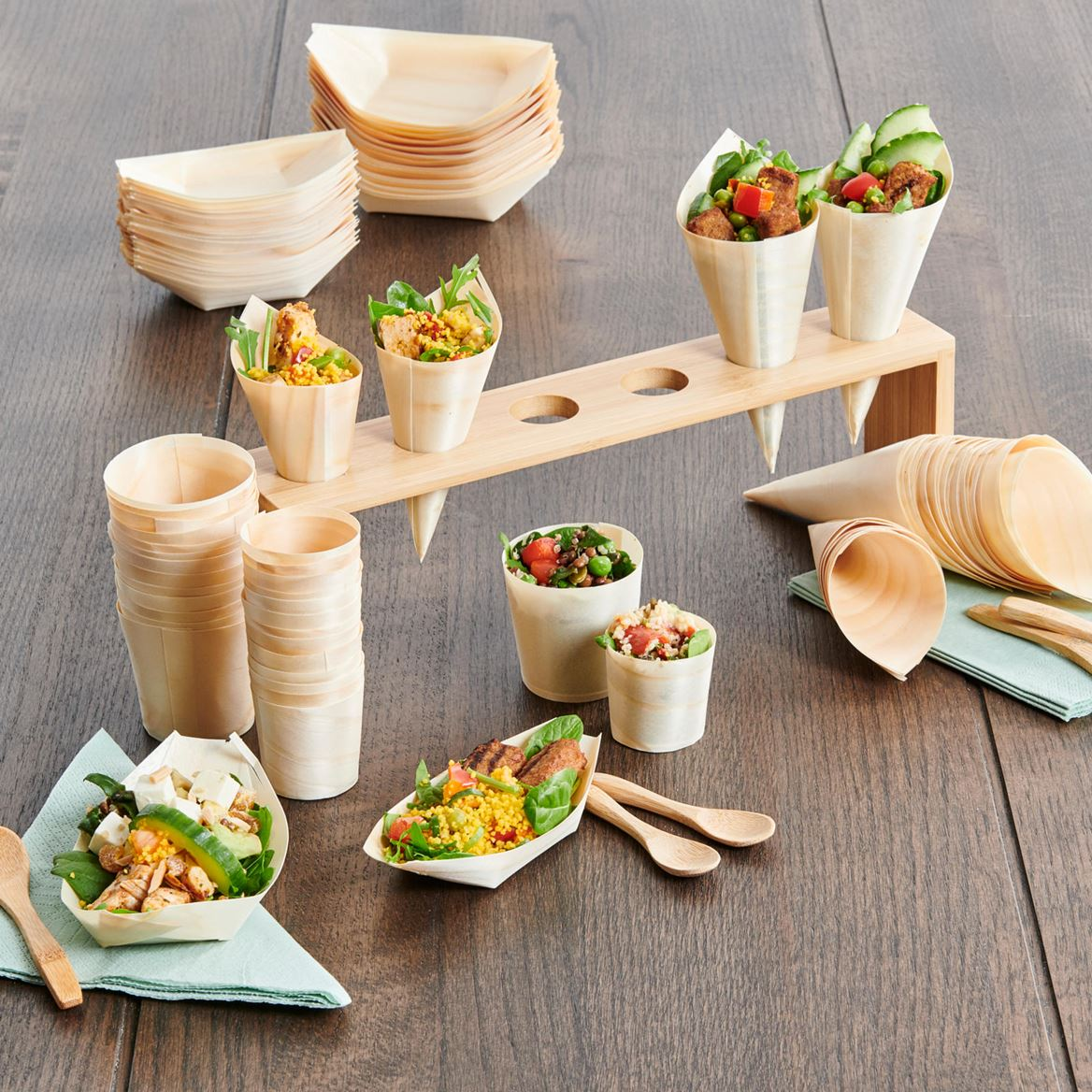 APERO ECO Cornets set de 20 naturel H 12.5 cm_apero-eco-cornets-set-de-20-naturel-h-12-5-cm