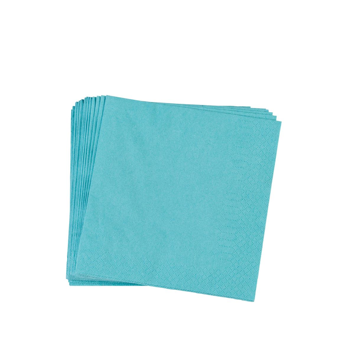 UNI Set de 20 serviettes bleu Larg. 33 x Long. 33 cm_uni-set-de-20-serviettes-bleu-larg--33-x-long--33-cm