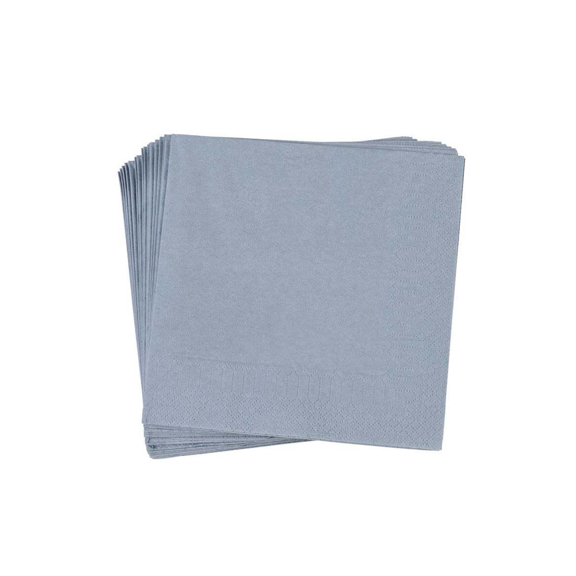 UNI Set de 20 serviettes gris Larg. 33 x Long. 33 cm_uni-set-de-20-serviettes-gris-larg--33-x-long--33-cm