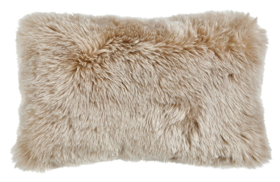 FUR MIX Coussin beige Larg. 30 x Long. 50 cm_fur-mix-coussin-beige-larg--30-x-long--50-cm
