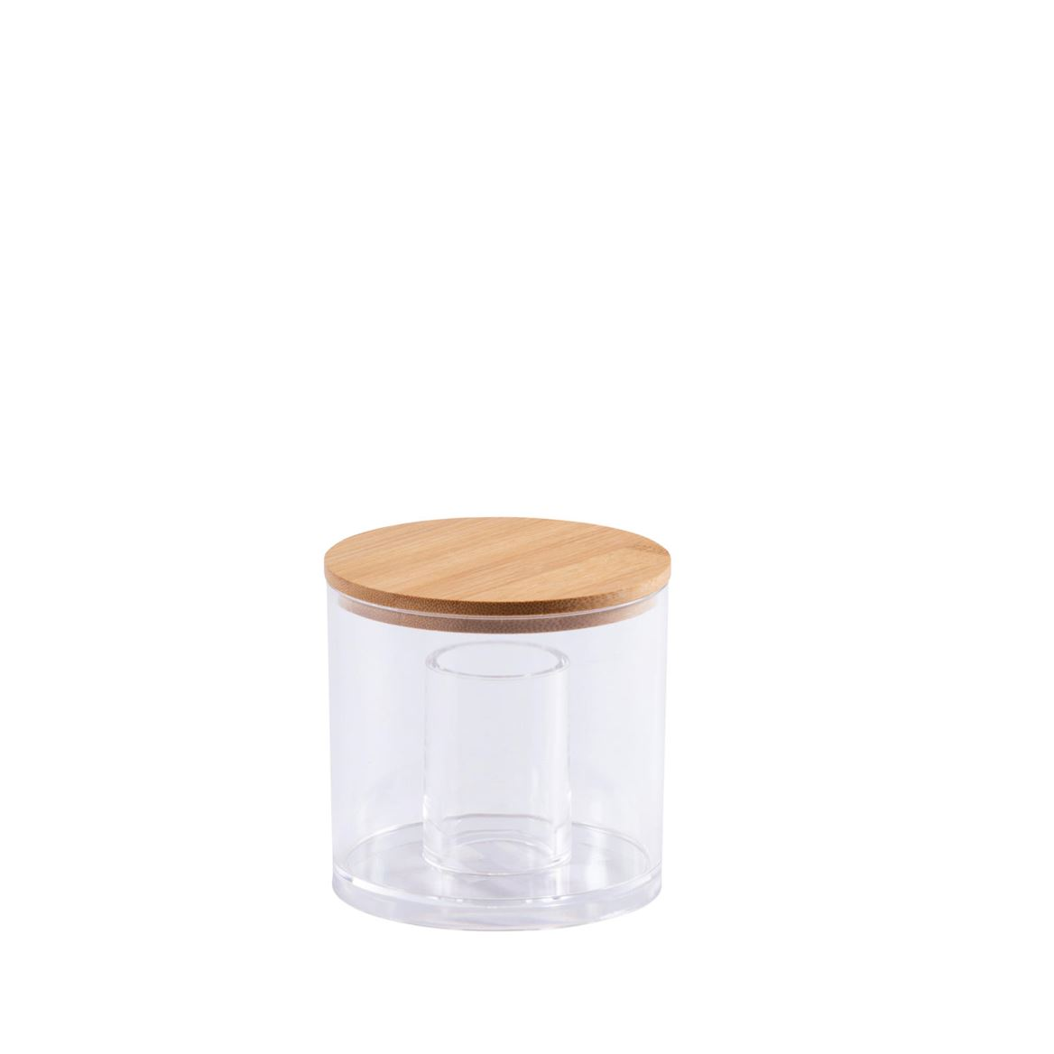 ORGANOO Porte-cotons-tiges transparent, naturel H 10 cm; Ø 9,8 cm_organoo-porte-cotons-tiges-transparent,-naturel-h-10-cm;-ø-9,8-cm