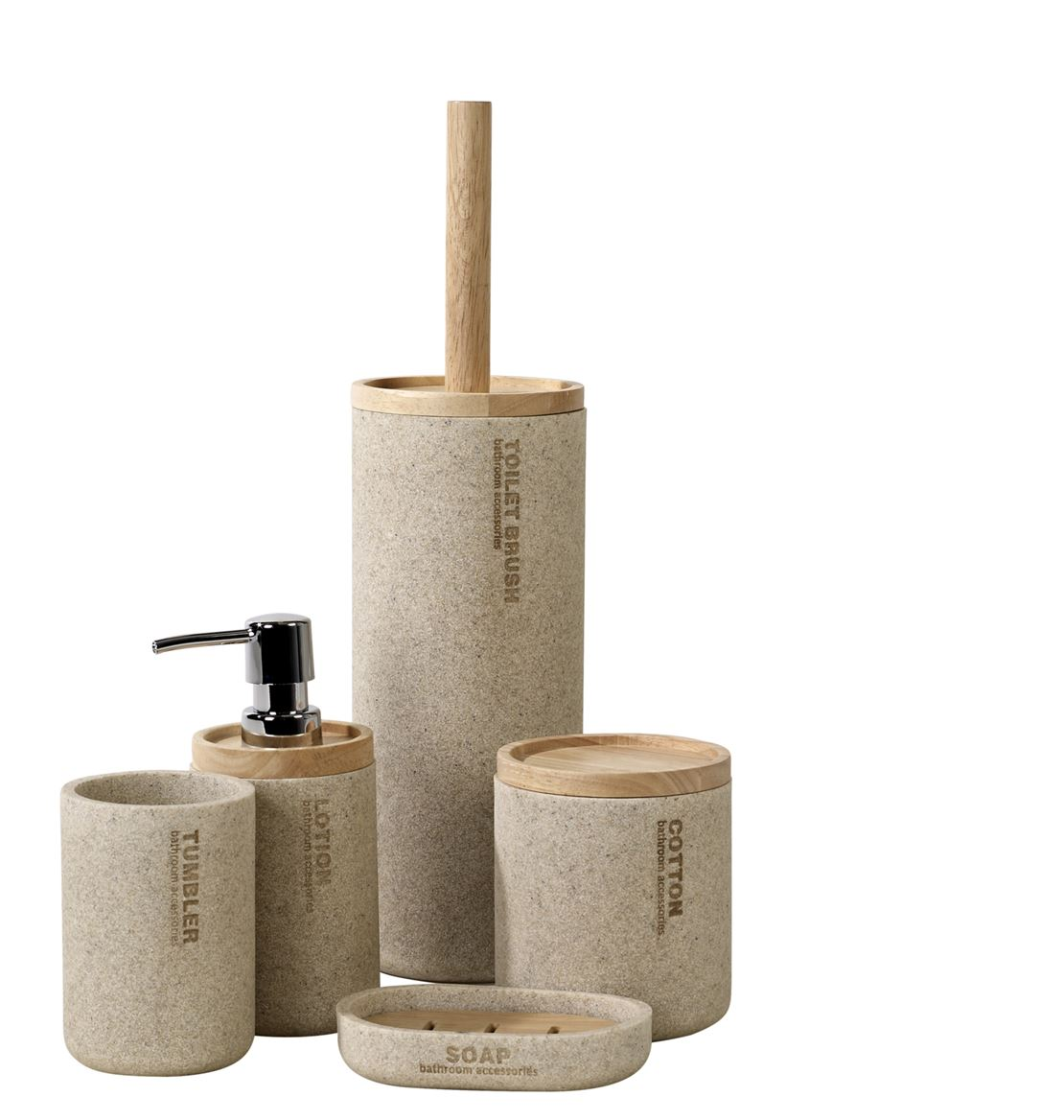 NEW RESIN WC-borstel in houder naturel H 38,5 cm; Ø 10,3 cm_new-resin-wc-borstel-in-houder-naturel-h-38,5-cm;-ø-10,3-cm