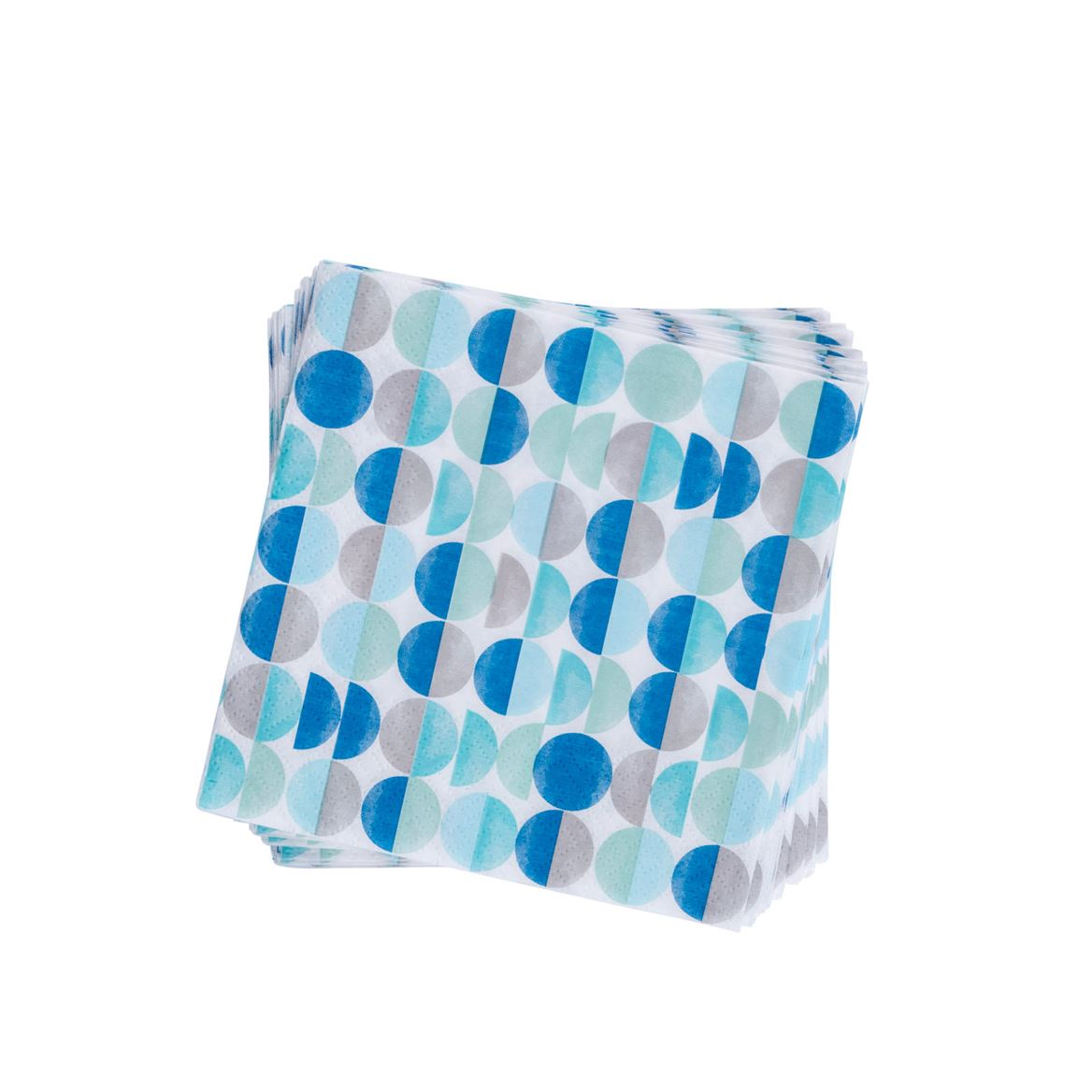 CIRCLES AQUA Set de 20 serviettes bleu Larg. 33 x Long. 33 cm_circles-aqua-set-de-20-serviettes-bleu-larg--33-x-long--33-cm