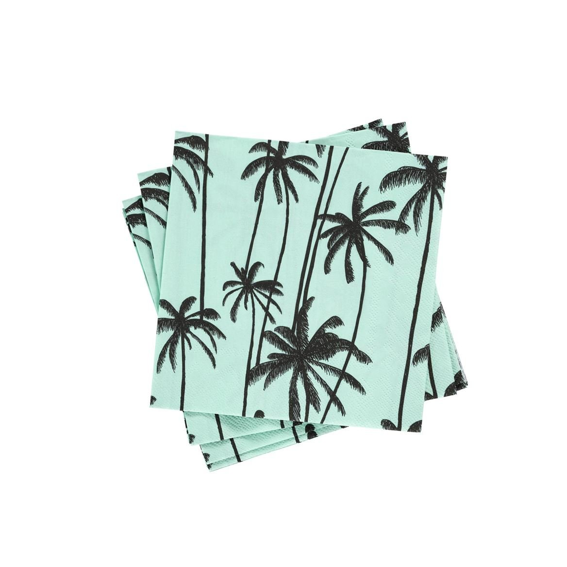 MINTY PALMS Set de 20 serviettes vert Larg. 33 x Long. 33 cm_minty-palms-set-de-20-serviettes-vert-larg--33-x-long--33-cm