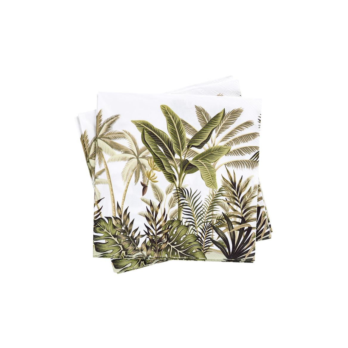 JUNGLE TREES Set de 20 serviettes vert Larg. 33 x Long. 33 cm_jungle-trees-set-de-20-serviettes-vert-larg--33-x-long--33-cm