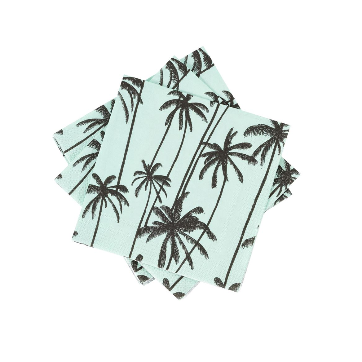MINTY PALMS Set de 20 serviettes vert Larg. 25 x Long. 25 cm_minty-palms-set-de-20-serviettes-vert-larg--25-x-long--25-cm