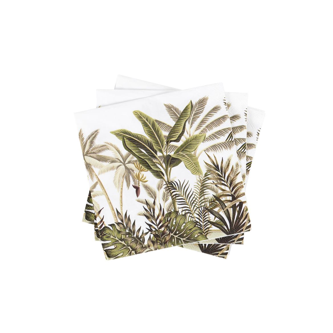 JUNGLE TREES Set de 20 serviettes vert Larg. 25 x Long. 25 cm_jungle-trees-set-de-20-serviettes-vert-larg--25-x-long--25-cm