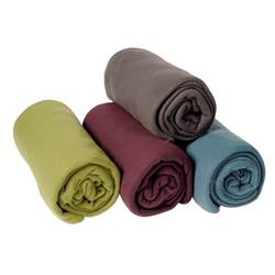 BASIC Plaid gris, vert, bleu, mauve Larg. 130 x Long. 160 cm