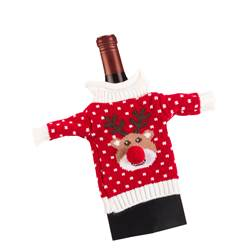 XMAS SWEATER Funda para botella varios colores A 18,5 x An. 10,5 cm