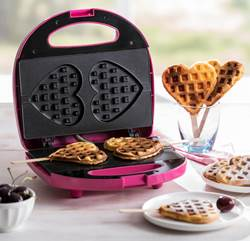 LOLLY Wafelmachine roze H 8,2 x B 23 x D 22 cm