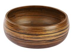 HOME BAMBOO Piatto decorativo S marrone H 9 cm; Ø 22 cm