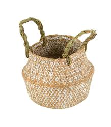 SEAGRASS Mini panier pliable naturel H 12 cm; Ø 14 cm