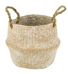 SEAGRASS Mini panier pliable naturel H 20 cm; Ø 20 cm