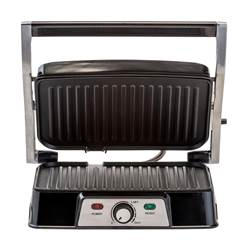 PANINI PRO CONTACTGRILL zilver H 12 x B 32 x D 28,5 cm