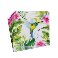 TROP HUMMINGBIRD Set de 20 serviettes multicolore Larg. 25 x Long. 25 cm