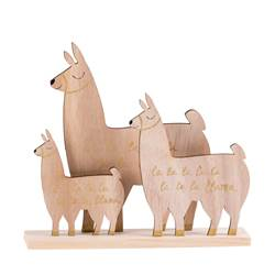 LLAMA Lama decorativo natural H 22 x W 2,5 x L 20 cm
