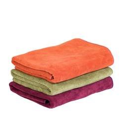 VOYAGE Serviette de bain rouge, orange, vert Larg. 50 x Long. 100 cm