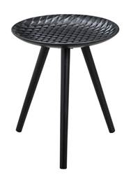 SHELL Table d'appoint noir H 46 cm; Ø 40 cm