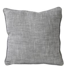 CHAMBRAY Housse gris clair Larg. 40 x Long. 40 cm