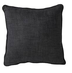 CHAMBRAY Housse noir Larg. 40 x Long. 40 cm