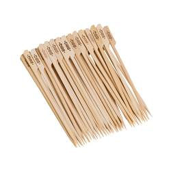 CHEFS BBQ Piquets set de 50 naturel Long. 20 cm