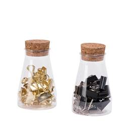 JAR Recipiente com 18 clipes 2 cores diversas cores W 1,9 cm