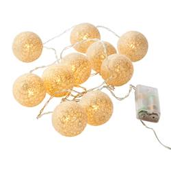 LUIS Lichterkette 10 Leds Gold