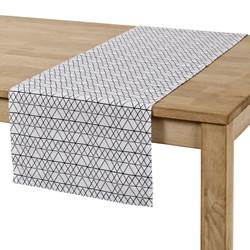 TRIANGEL Chemin de table noir, blanc Larg. 40 x Long. 140 cm