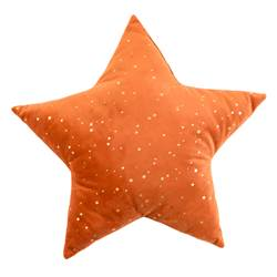 BRIGHT STAR Coussin orange Larg. 40 x Long. 40 cm