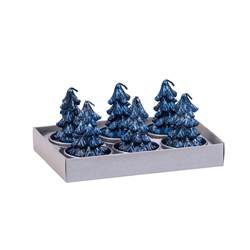 TREE Lumini set di 6 blu H 6,2 x W 9,5 x L 13,8 cm