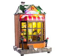 LARGE SHOP Décoration de Noël avec LED multicolore H 27 x Larg. 16 x P 14 cm