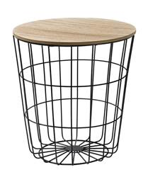 WIRE Table d'appoint noir, naturel H 41,5 cm; Ø 39,5 cm