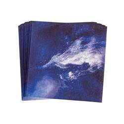 DARK WAVE Set de 20 serviettes bleu Larg. 25 x Long. 25 cm