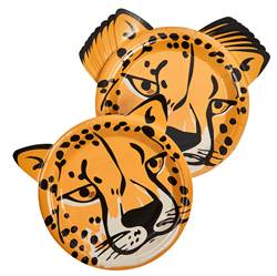 CHEETAH Assiettes set de 10 brun Ø 18 cm