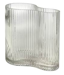 WAVE Vase transparent H 17,5 x Larg. 17,5 x P 11 cm